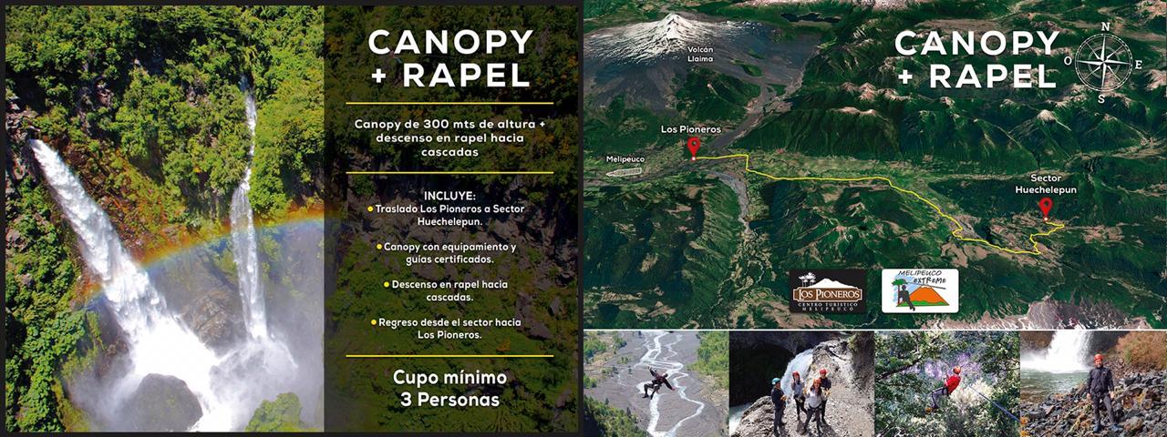 Los Pioneros Melipeuco - Canopy + Rapel